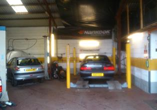 Well equipped, spacious workshop facilities at Airdrome Cars